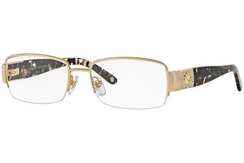 Versace VE 1175B Eyeglasses w/Gold Frame and Non- 53 mm Diameter Lenses,