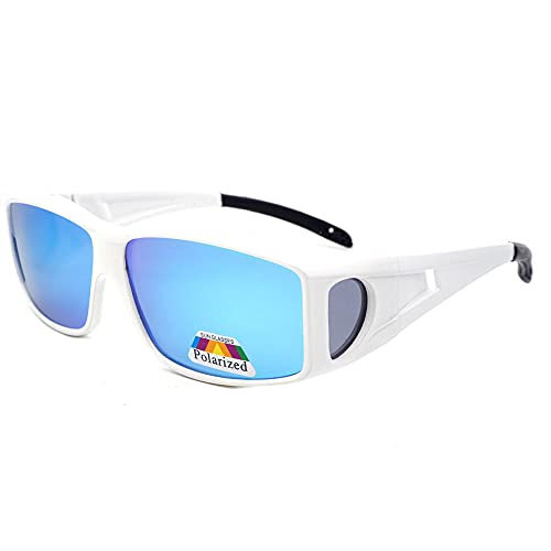 A-Generic Gafas de Sol polarizadas para Hombre para Mujer Clásico Retro Reducción Gafas para Conducir Pesca Deportiva-_Película roja Porcelana Blanca