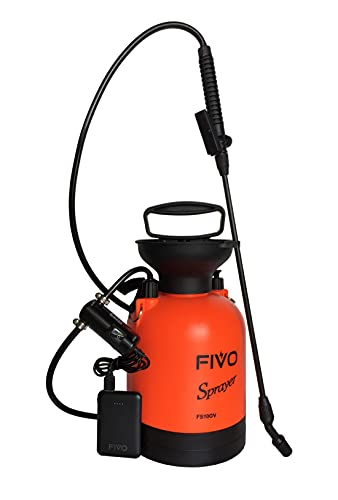 Battery Powered Sprayer and Pressure Sprayer Dual Functions for Lawn and Garden with Rechargeable Lithium Ion Power Bank and Shoulder Strap (0.8 Gallon)