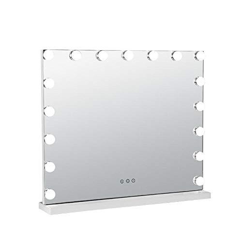 HPPSLT Vergrößerung Schminkspiegel, 180°drehbar, Tageslicht LED - LED-Lampenspiegel Kosmetikspiegel Lampe 3 dimmbare Schminktische