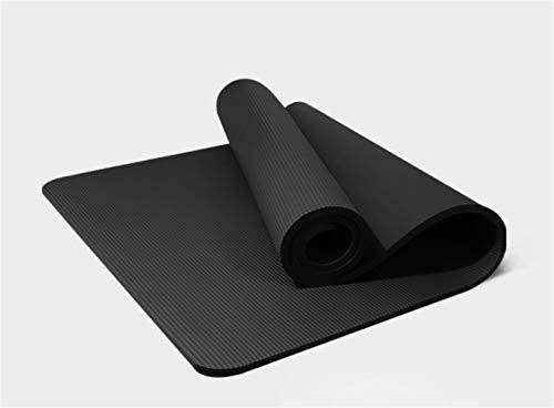 Esterilla de yoga gruesa para ejercicio, ligera, con correa de transporte, 15 mm, extra gruesa, alta densidad, NBR para pilates, entrenamiento de fitness con correa de transporte (183 x 80 x 1,5 cm)