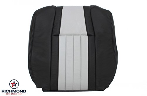 Richmond Auto Upholstery - Driver Side Lean Back Replacement Leather Seat Cover, Black & Gray (Compatible with 2003 Ford F-150 F150 Harley Davidson Edition Supercharged)