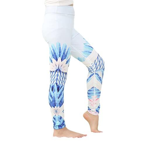 QTJY Leggings para Mujer Pantalones Casuales elásticos de Cintura Alta Pantalones de Yoga sin Costuras Push-ups Celulitis Deportes Pantalones de Yoga A L