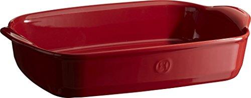 Emile Henry Eh349552 Plat à Four Rectangulaire Céramique Rouge Grand Cru 36 X 23 X 7 cm