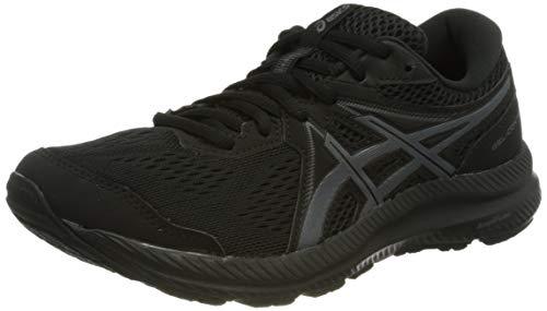 ASICS Damen Gel-Contend 7 Road Running Shoe, Black/Carrier Grey, 39 EU