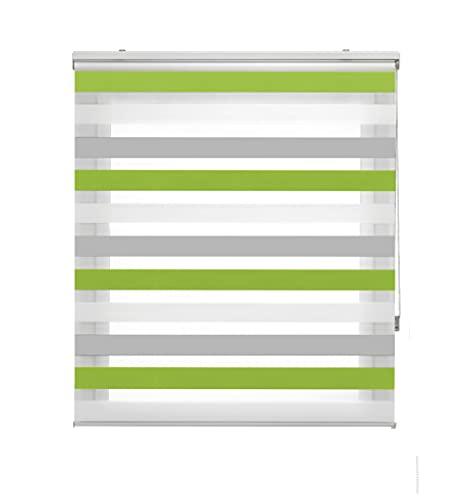 Blindecor Lira Estor Enrollable Doble Tejido, Noche y día,Tricolor 80 x 180 cm, Color Gris Pistacho, Poliéster