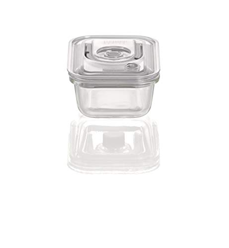 CASO VacuBoxx ES - eckig 370ml - hochwertiger Design Vakuumbehälter, BPA-Frei, mikrowellengeeignet, hitzebeständig, spülmaschinengeeignet