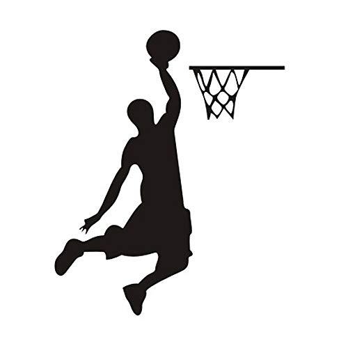 dnven (4'W x 5' H) Dunk Jugador de baloncesto extraíble adhesivos adhesivos decorativos de pared de interruptor de luz