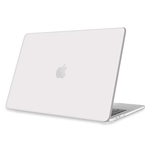 Fintie Hülle für 2020 - 2016 MacBook Pro 13 A2338 M1 A2289 A2251 A2159 A1989 A1706 A1708 - Ultradünne Glatt Hartschale Schutzhülle für MacBook PRO 13 mit Touch Bar und Touch ID, Frost Transparent