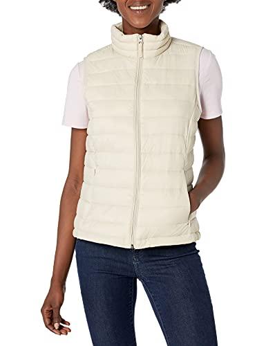 Amazon Essentials Damen Lightweight Water-resistant Packable Puffer Vest Weste, Bimsstein, S
