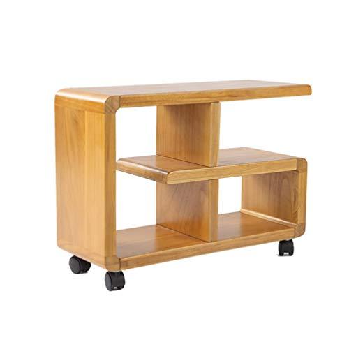 Mnjin Computertisch, beweglicher Nachttisch, hölzerner Sofatisch, seitliches Bücherregal, Kleiner Couchtisch, 60 * 23 * 45,5 cm