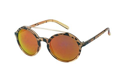 Chic-Net des Lunettes de Soleil Lunettes Autour du Bord supérieur métal Jaune Flat Top Vintage John Lennon 400UV réfléchissante