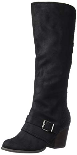 Fergalicious Women's Larissa Knee High Boot, Black, 9 M M US