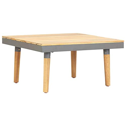 vidaXL Solid Acacia Wood Garden Coffee Table Weather Resistant Hardwood Wooden Table End Side Tea Porch Table Patio Outdoor Furniture