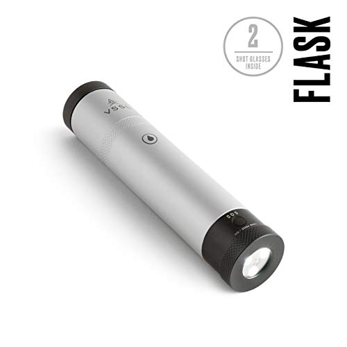 """BUILT FOR ADVENTURE: This flask is built for adventure. Virtually indestructible, watertight, and ultra-compact, it's the ultimate """"vessel"""" to carry your favorite spirit into the wild. RE-THINK HAPPY HOUR: Epic moments in the outdoors are meant to be..."""