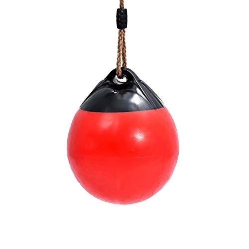 JTKDL Swing, niños Swing Interior casa Inflable Bola Columpio oscilación al Aire Libre (Color : Red, Size : Diameter: 30cm)
