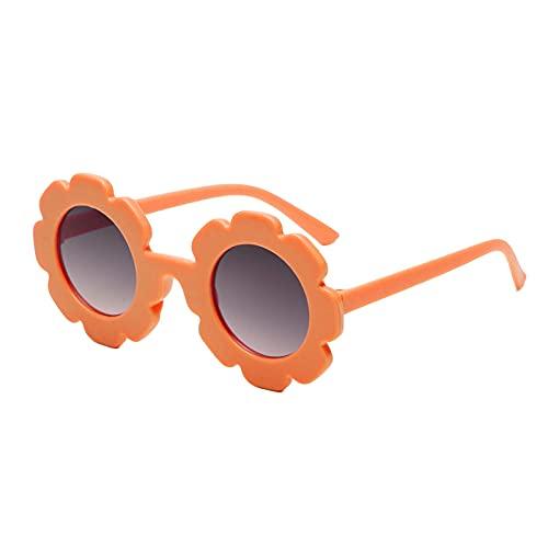 Muium(TM) Gafas de sol para niños, estilo vintage, redondas, UV400, para niños y niñas, de 2 a 5 años, reflectantes, con marco redondo, con protección UV, naranja,