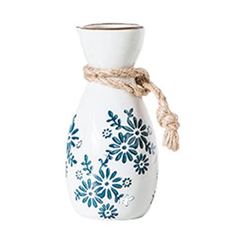 BHGY Hip Flask Copa de vino Retro Chino Cerámica Sake Glass Set, Blanco Vino Blanco Copa de Sake Retro Vino Copa de vino Blanco Jarra de vino blanco Jarra de vino blanco Frasco de vino