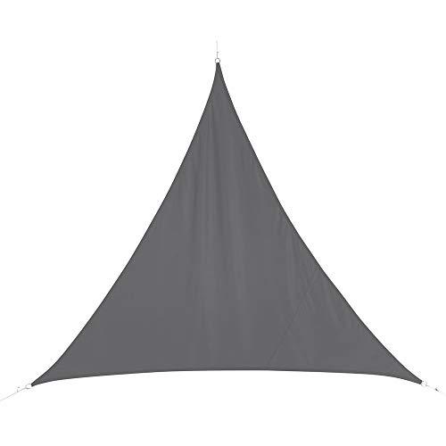 Toile solaire Voile d'ombrage triangulaire 5 x 5 x 5 m en tissu déperlant - Coloris GRIS
