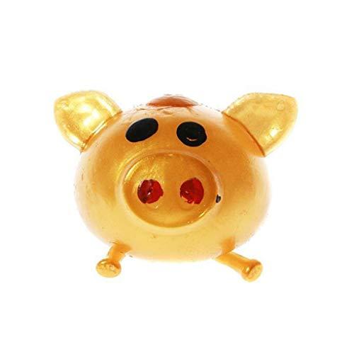 MMMINTER Smash-it Stress Relief Jelly Soft Golden Pig Ball