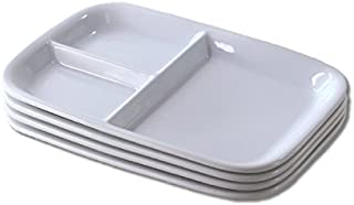 cerapockke とても使いやすい三仕切りシンプルランチプレート 4枚セット ランチプレート アウトレット 訳あり 洋食器 食器 仕切り皿 白い食器 ワンプレート 引越し祝い