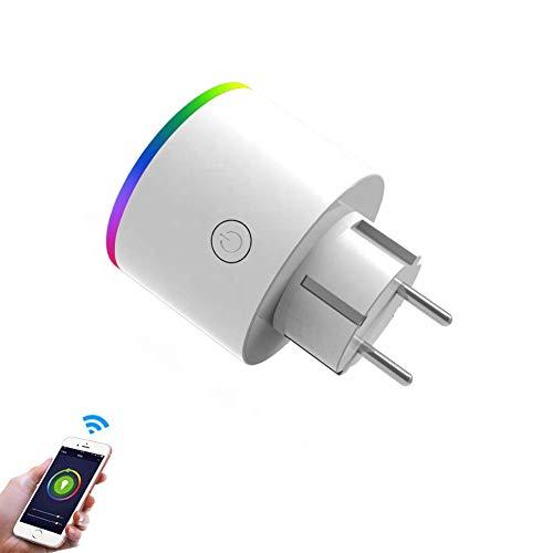 Wlan Smart Steckdose, Smart Home Steckdose, kompatibel mit Amazon Alexa, Google Assistant, Smart LIFE APP, LED Nacht- Ambiente-Licht dimmbar, Timer und Zeitplan gesteuert, kein Hub nötig, 2,4GHz