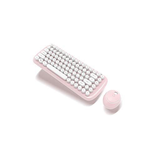 Teclado para videojuegos, teclado ordinario teclado ratón teclado de ordenador teclado 2,4 G mini teclado inalámbrico Punk chocolate teclado delgado ligero ultra delgado teclado inalámbrico