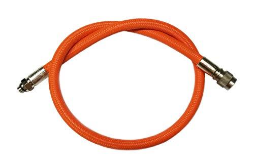 METALSUB Latiguillo de Jacket en Flex, Color Naranja.