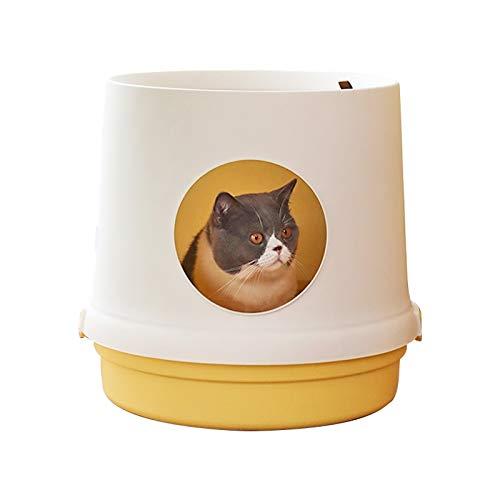 Zhouzl Hogar & Jardín Arena para Gatos Caja a Prueba de Salpicaduras Cerrado Gato Artículos de higiene Sanitaria Hogar & Jardín (Color : Warm White)