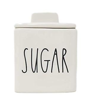 Rae Dunn By Magenta SUGAR Ceramic LL Square Sugar Bowl
