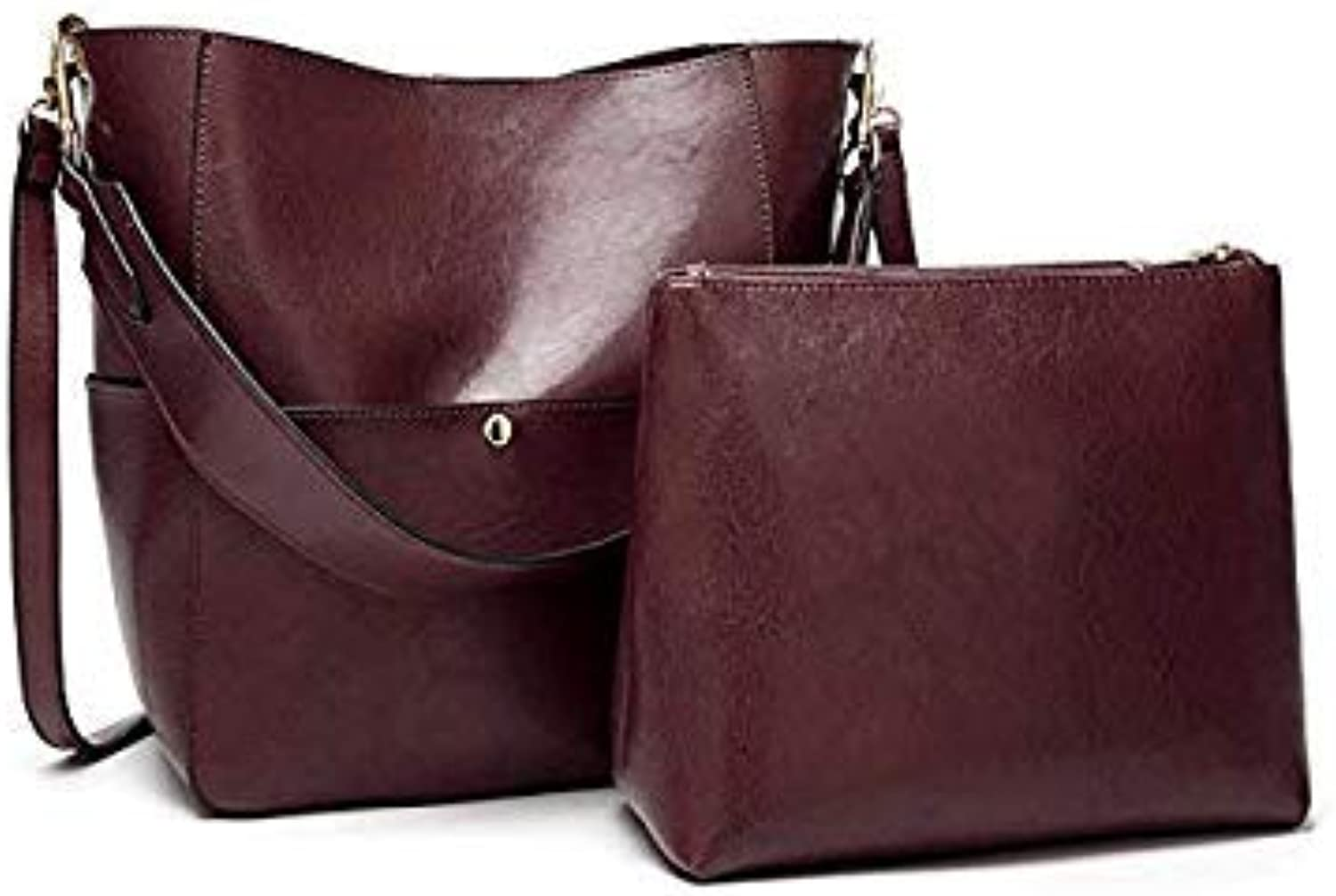 Bloomerang Herald Fashion Large Capacity Women Composite Bag Casual Tote Bags Quality Leather Female Shoulder Bag Lady's Daily Handbags color Coffee 25x14x31cm