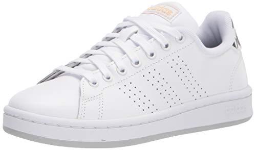 adidas Advantage Shoes White/Black/Gold Metallic 9.5