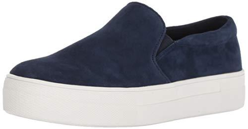 Steve Madden Women's Gills Sneaker, Navy Suede, 7.5