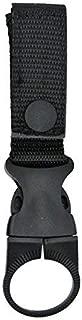 GoodsLand 【ベルト 通し】 ペット ボトル ホルダー バッグ バイク 携帯 ベルクロ カラビナ バックル 釣り (ブラック) GD-BOT-HOLDER-BK