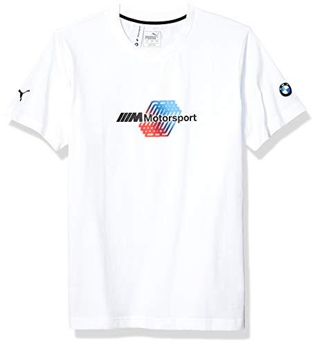 Motorsport Herren BMW Logo Tee, Herren, T-Shirt, BMW MMS Motorsport Logo Tee +, Puma Weiß, Medium