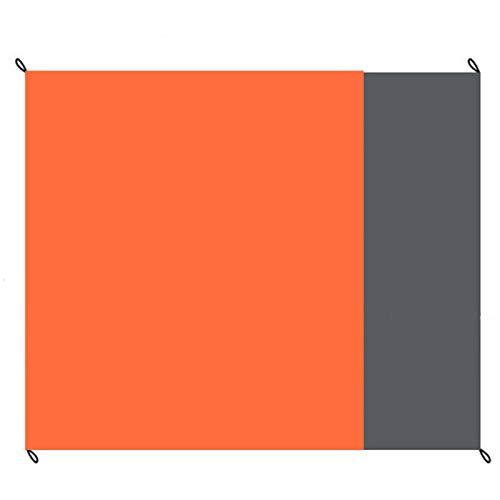レジャーシート 防水 薄型 折りたたみ式 軽量 140X200cm キャンプマット ブランケット ピクニックマット テントの下敷きに 日よけテント 収納バッグ付き (オレンジ, 140*200cm)