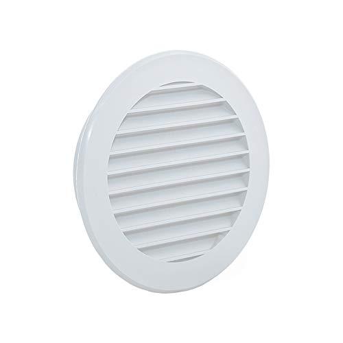 Rejilla de ventilación redonda de plástico y protección para desagües, Blanco Sistema de ventilación Ø100mm