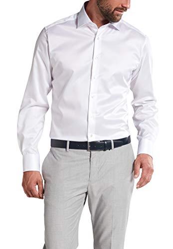 eterna Langarm Hemd Modern Fit Twill unifarben