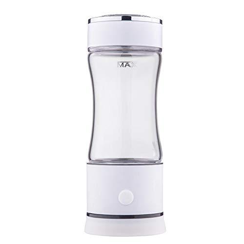 AUNLPB Glas-Wasserkrug, wasserstoffreiche Generator-Wasserflaschen-Technologie Ionisator, tragbarer Wasserstoff-Wasser-Ionisator-Flaschenhersteller Generator 260ML