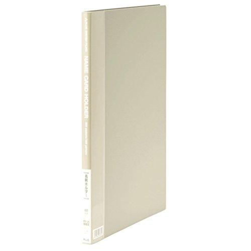 プラス 名刺ファイル A4 200名用 20P ライトグレー 名刺ホルダー 名刺ケース 84-102