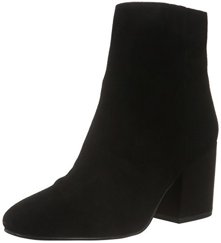 Sam Edelman Women's Taye Ankle Boot, Black Suede, 5.5 Medium US