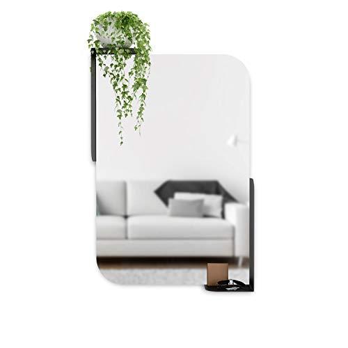 Umbra Alcove Miroir Mural pour entrée, Salle de Bain, Salon, etc. Noir 76,2 x 50,8 cm