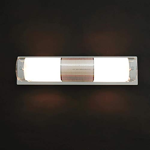 Dekorative Badleuchte Wandlampe aus Chrom & Echtglas 230V, 2x E14 Badlampe Bad Badezimmer Beleuchtung