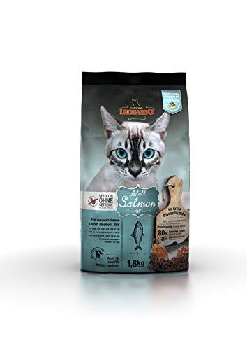 Leonardo Adult GF Salmon [1,8kg] Katzenfutter | Getreidefreies Trockenfutter für Katzen | Alleinfuttermittel für Katzenrassen ab 1 Jahr