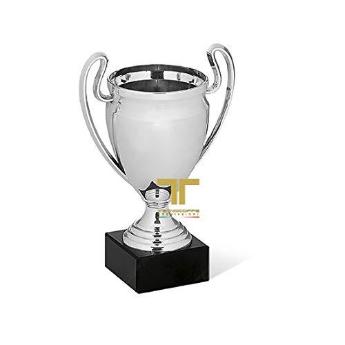 tecnocoppe Coppa Economica in ABS Metallizzato h 16,00 cm Targhetta Omaggio