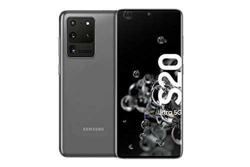 Samsung Galaxy S20 Ultra 5G Smartphone B&le (17,44 cm) 128 GB interner Speicher, 12 GB RAM, Hybrid SIM, Android inkl. 36 Monate Herstellergarantie [Exklusiv bei Amazon]Deutsche Version, cosmic grey