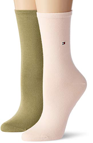 Tommy Hilfiger Damen Socken Th Women Sock Casual 2er Pack, Rosa (Light Pink 016), 35/38