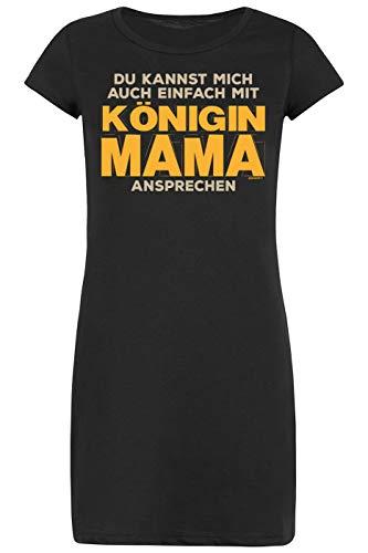 TITAGU Nachthemd-Schlafshirt Damen/Bekleidung Thema Familie: Du Kannst Mich auch einfach mit Königin Mama ansprechen