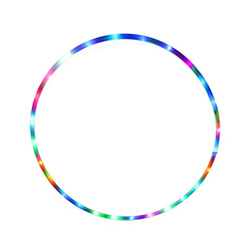 CYSHAKE Hula-Hoop Erwachsene Hula-Hoop-Multi-Color-Haushalts-Haushaltsfamilien-LED-Fitnesskorb Leichter und mobiler Sport 90cm Gewichteter Fitness-Hula-Hoop