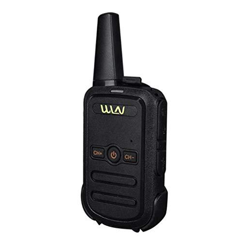 Leeofty 1Pc C51 Mini Walkie Talkie con Clip Trasero Llamada bidireccional 16 Canales de señal Portátil para Hotel al Aire Libre